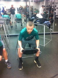 Chandler in the Weight Room